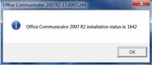 OCS 2007 R2 Client Installation Failure