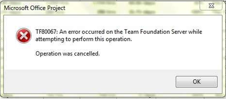 Project Server 2010 Team Foundation Error