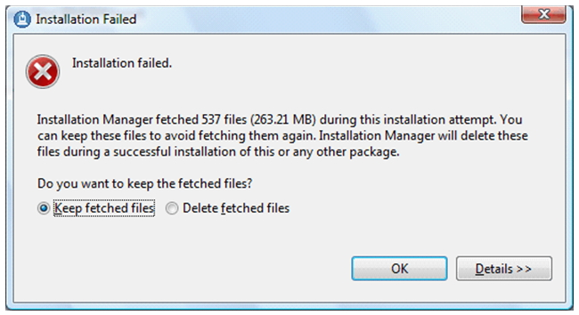 Installation of Rational AppScan Developer Edition gives error before complete.